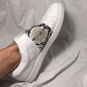 Gorgeous Vince slip on snake sneakers